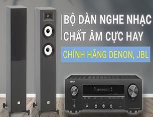Thử nghe nhạc với dàn nghe nhạc Hifi: Loa JBL STAGE A180, Amply Denon DRA-800H