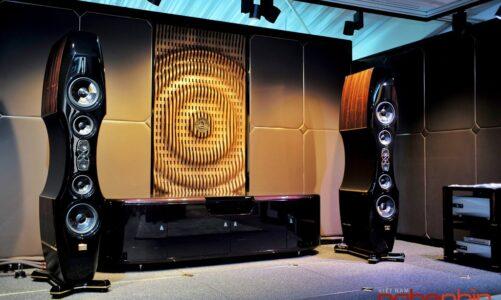 Kharma trình diễn siêu loa nhì bảng EV-2D và kệ tích hợp Elegance Visionair