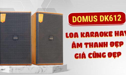 Domus DK 612: Loa hát karaoke chất, âm thanh đỉnh, giá mềm