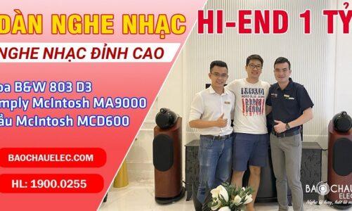 Lắp Đặt Bộ Dàn Âm Thanh Hi End nhà Anh Cường ở HCM: Loa B&W 803 D3, McIntosh MA9000, McIntosh MCD600