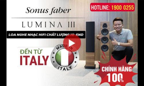 Loa Sonus Faber Lumina III Sản Xuất tại Ý – Loa nghe nhạc Hifi kiểu dáng đẹp, chất âm hay