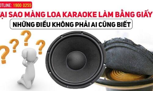Tại sao màng loa karaoke làm bằng giấy? Những điều không phải ai cũng biết