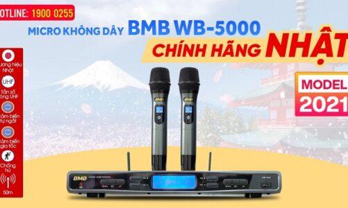 Đập hộp Micro không dây BMB WB-5000 (model 2021) Chính Hãng Nhật, Cảm biến tự ngắt, gia tốc, hát hay