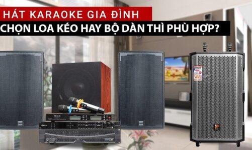 Nên mua loa kéo hay dàn karaoke cho gia đình cho những bữa tiệc tại gia?