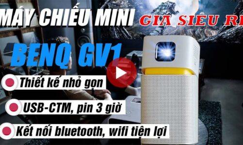 Máy chiếu mini BenQ GV1 nhỏ gọn, Bluetooth, Wi-Fi mang thế giới giải trí thu nhỏ theo mọi nơi