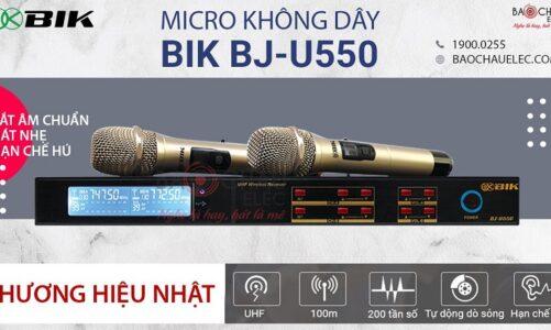 Micro không dây BIK BJ U550 tốt nhất, đáng mua năm 2021 cho dàn karaoke gia đình